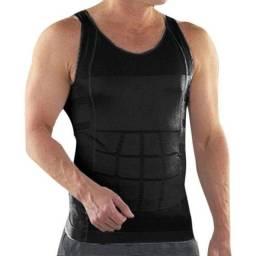 Camiseta Masculina Compressora Slim emagrecedora térmica modela