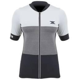 Camisa Ciclismo DX-3 Feminina Ultra 02 Cinza / Preto
