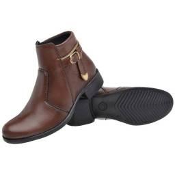 Bota Botinha Coturno Sapato Feminino Confortável