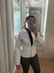 Jaqueta de Couro Branca M