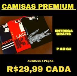 Camisas Premium (atacado = ENTREGA GRÁTIS)