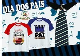 Camisetas estampas personalizadas Dia dos Pais