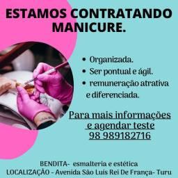 Estamos contratando manicures com experiência