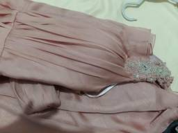 Vestido de festa semi novo Rosé