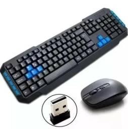 (NOVO) Kit Teclado E Mouse Sem Fio Wireles Usb Pc Notebook Wb-8099