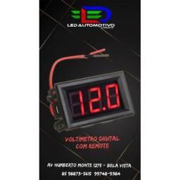 Voltímetro Digital com Remote 12v
