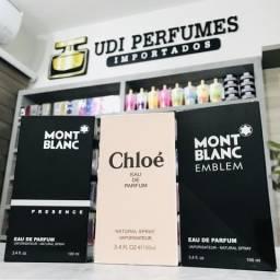 Kit 03 Perfumes 100ml: Montblanc Presence + Chloé + Mont Blanc Emblem