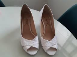 Sapato de Noiva, salto baixo, 37, Cabo Frio