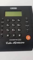 Telefone fixo com Identificador de Chamadas Memória Viva Voz