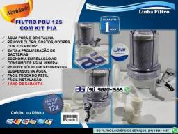 """Filtro de Água Single 5"""" Com Kit Pia- Entrega e Instalação Grátis"""