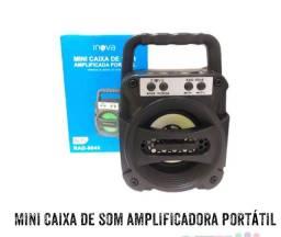 Mini caixa de som amplificadora portátil