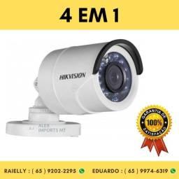 Câmera de Segurança Bullet HikVision Infravermelho 20 Metros 4 em 1 720P 1/3 2,8mm cuiaba