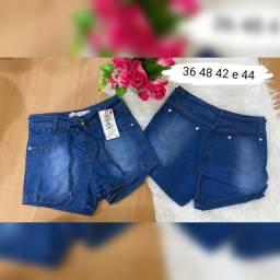 Short jeans com Lycra