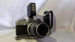 Conjunto Câmera Praktica + lentes