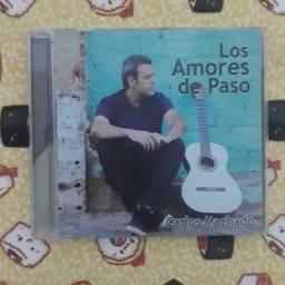 CD Carlos Machado - Los Amores de Paso - Autografado