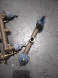 4 Base duplocomando para ducha higiênica Activa bronze bruto Deca<br><br>