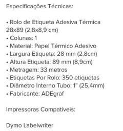 Etiqueta impressora térmica