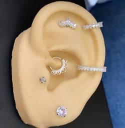 Piercing da orelha em prata