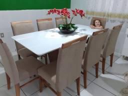 Mesa 8 com cadeiras mesa nova completa