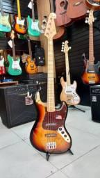 Baixo sx vintage jazz bass sjb75 tor passivo 4 cordas