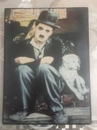Antigo quadro Charles Chaplin