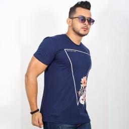 T-shirts Masculina Gola Redonda Casual