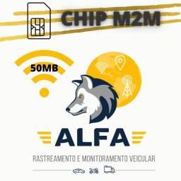 Chip m2m para rastreador