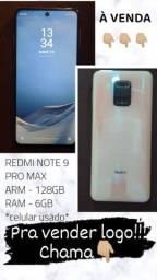Redmi Note 9 Pro Max 128gb 6gb RAM