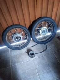 Rodas da 150 titan cg Honda fan moto pneu