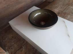 Pia de porcelanato com bojo