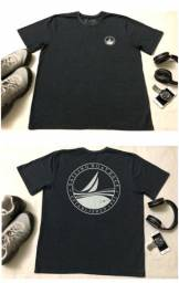 Camisa T-Shirt Cinza Masculina ZIP NAUTICA