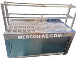 Self service, carro termico ou buffet, quente ou frio em aço inox, direto da fábrica.