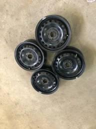 Jogo rodas 14 G5 G6 Vw com calotas Originais