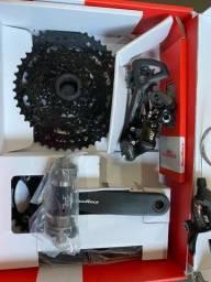 Kit transmissão Grupo Sunrace DkM 1 9V Completo Bike