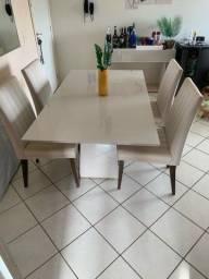 Vende mesa moderna 4 cadeiras