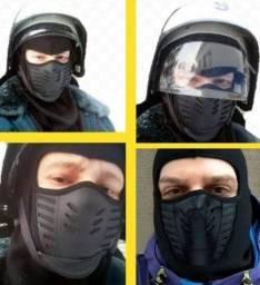 Balaclava nova preta estilo ninja sub-zero/scorpion para proteção