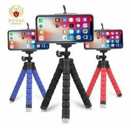 Mini tripé flexível suporte pra celular