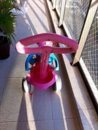 Carrinho de passeio rosa Bandeirantes