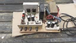 Amplificador para máquina de música com defeito