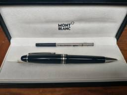 Caneta Montblanc meisterstuck , na caixa com refil  de tinta reserva