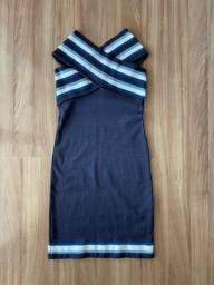 Vestido midi azul IODICE