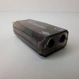 Adaptador placa de som usb 5.1 canais virtual (frete grátis)