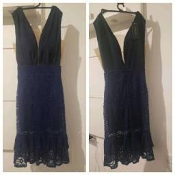 Vestido Novo (na etiqueta) - Azul Marinho