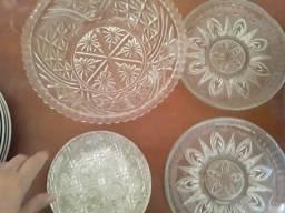 conjunto de cristal sobremesa