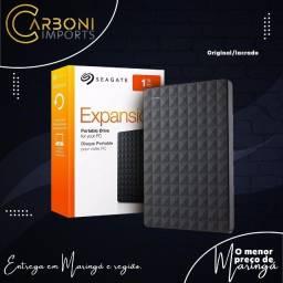HD Externo Seagate Expansion STEA1000400 1TB preto/Novo/Lacrado