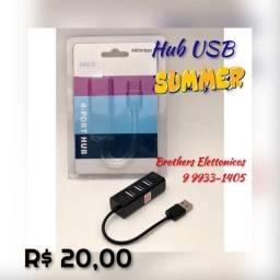 Hub USB aumenta quantidaden