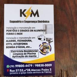 K?M esquadria e segurança eletrônica