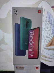 Loucura 2021!. Redmi 9.. da Xiaomi.. Novo LACRADO Garantia e entrega hj