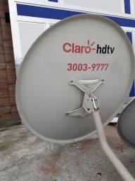 Antenas Parabólicas Claro Hdtv e Via Embratel