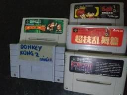 SNES 5 Jogos Originais (DK 1 e DK 2 salvando)!!!